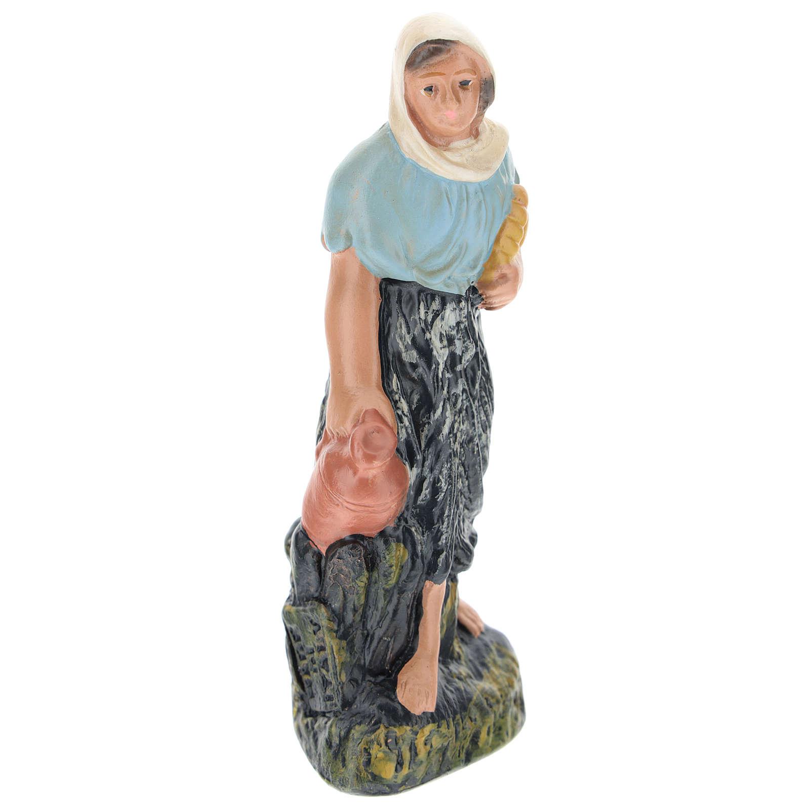 Estatua campesina con jarras yeso belenes de 15 cm Arte Barsanti 4