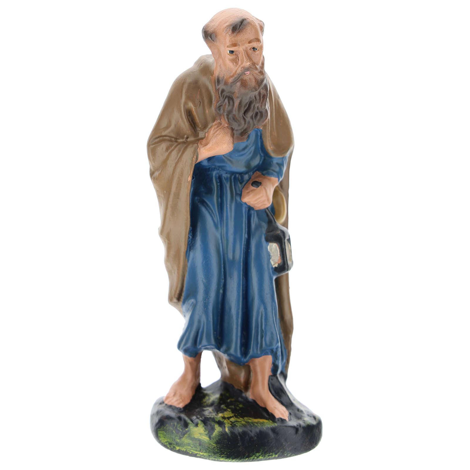 Statua pastore con lanterna gesso presepi 15 cm Arte Barsanti 4