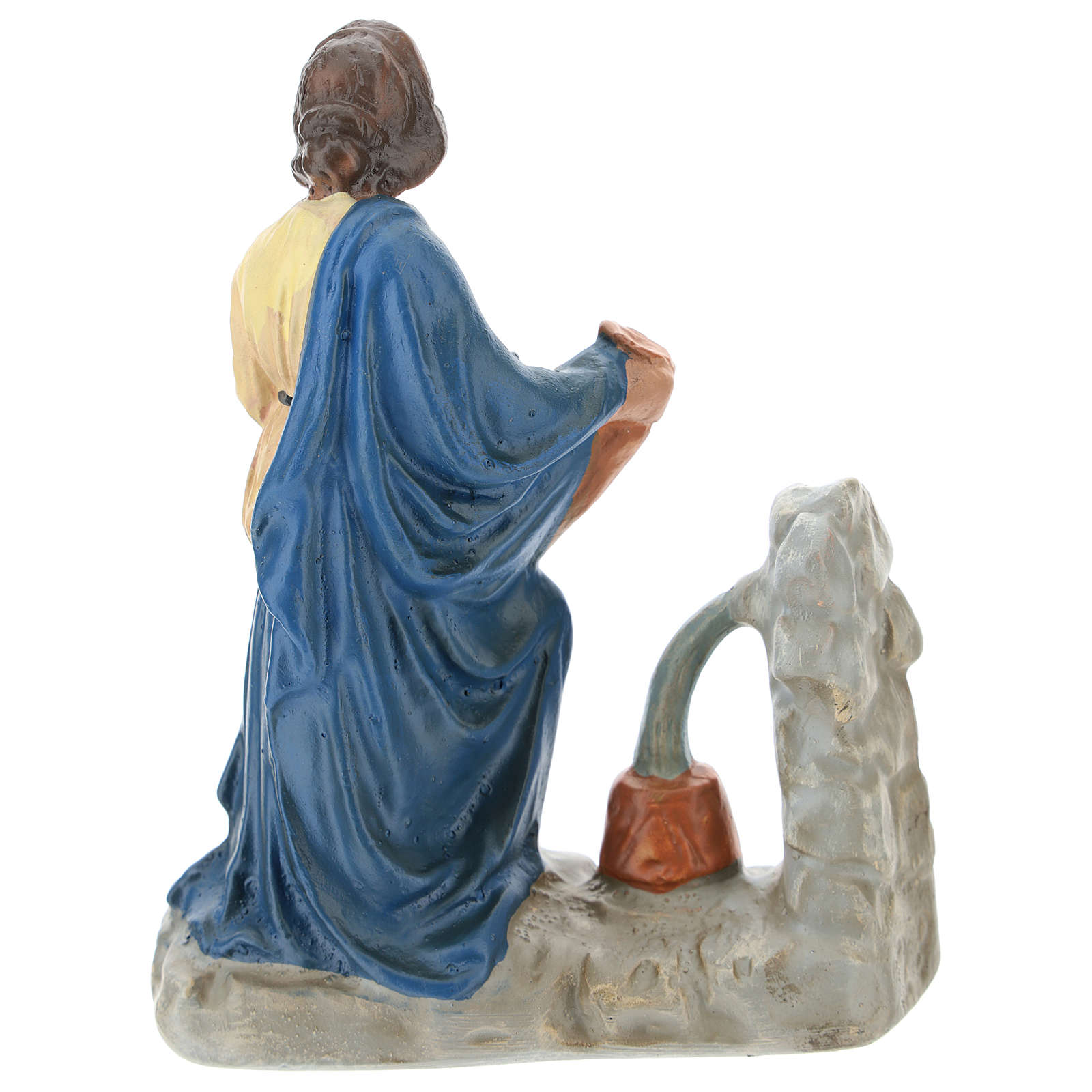 Statua contadina con brocche alla fontana presepi Arte Barsanti di 15 cm 4
