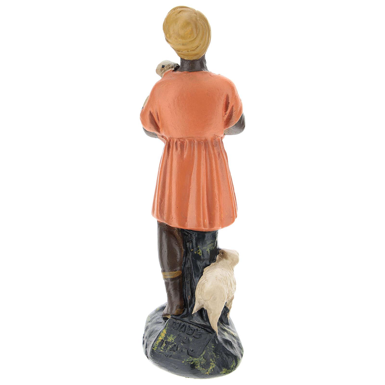 Estatua pastora con ovejas para belenes Arte Barsanti de 15 cm 4