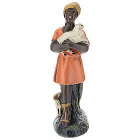 Estatua pastora con ovejas para belenes Arte Barsanti de 15 cm s1