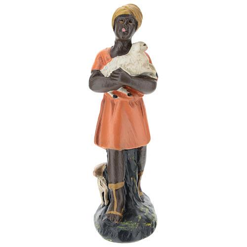 Estatua pastora con ovejas para belenes Arte Barsanti de 15 cm 1