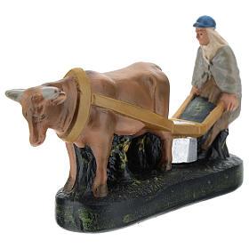 Statua contadino aratro e bue per presepi Arte Barsanti di 15 cm s3