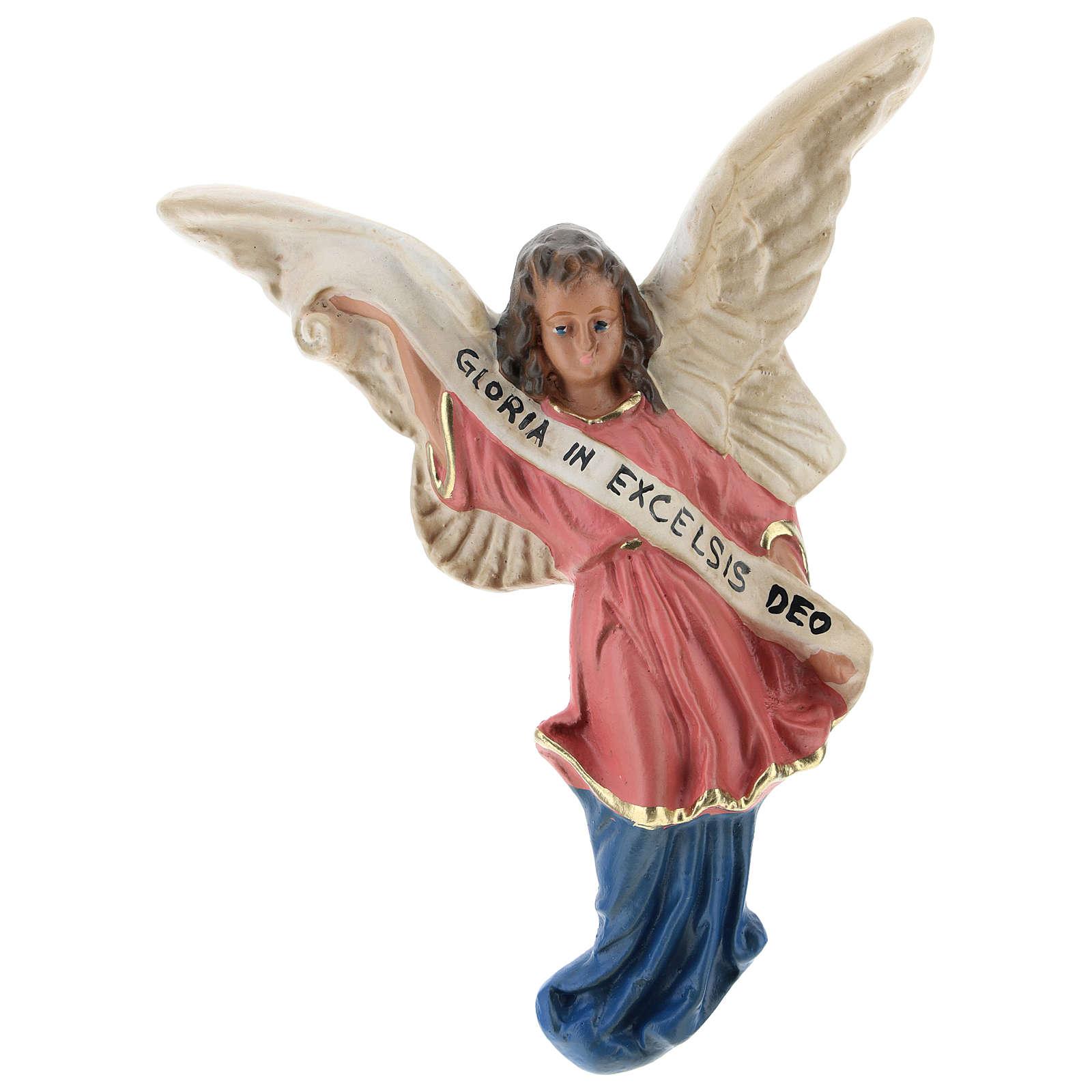 Ángel Gloria de yeso para belenes de Arte Barsanti 15 cm 4