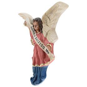 Ángel Gloria de yeso para belenes de Arte Barsanti 15 cm s2