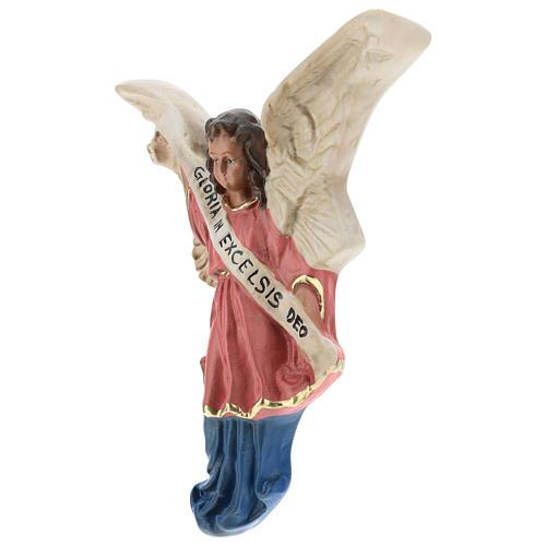Ángel Gloria de yeso para belenes de Arte Barsanti 15 cm 2