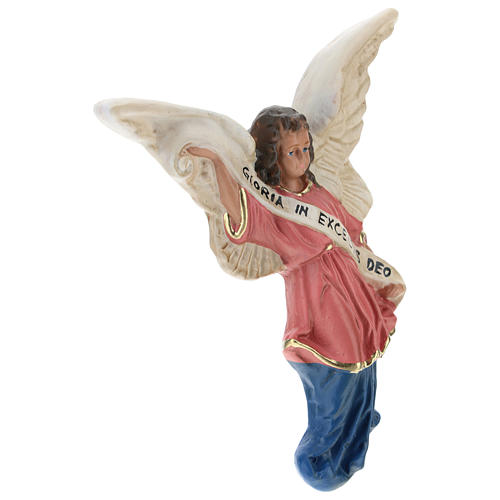 Ángel Gloria de yeso para belenes de Arte Barsanti 15 cm 3
