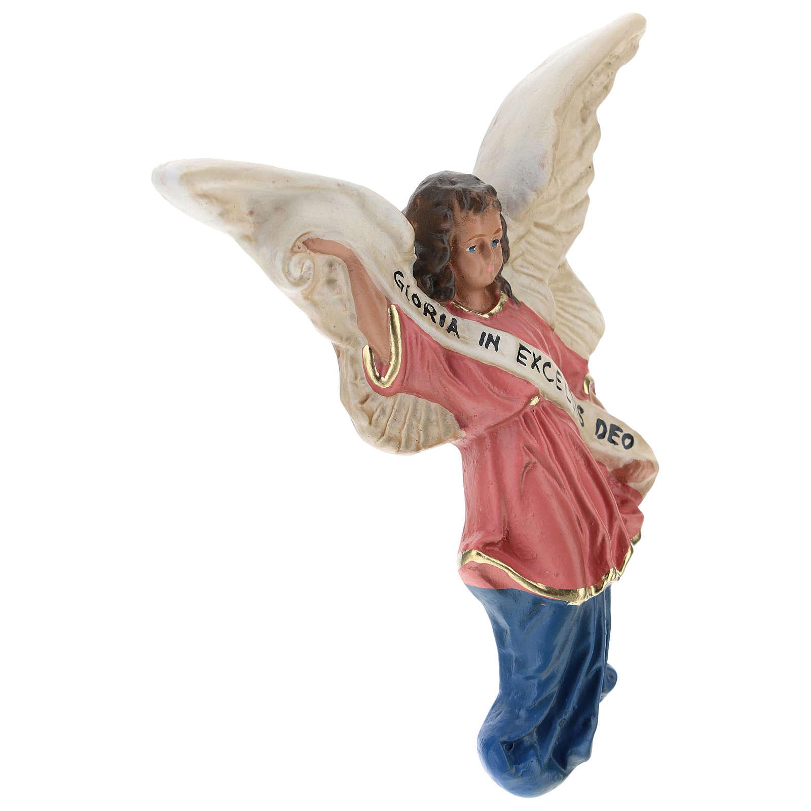 Angelo Gloria in gesso per presepi di Arte  Barsanti 15 cm 4