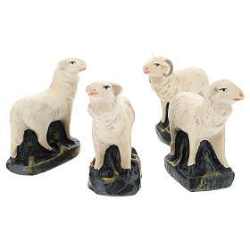 Pecorelle Arte Barsanti set 4 pezzi gesso per presepi di 15 cm s2