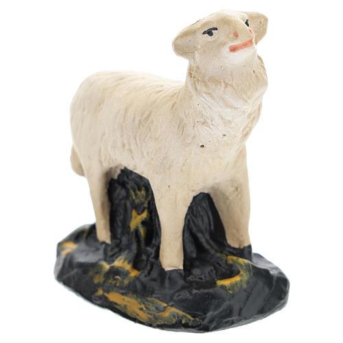 Pecorelle Arte Barsanti set 4 pezzi gesso per presepi di 15 cm 5