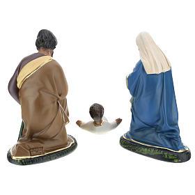 Nativité Arte Barsanti 3 santons plâtre peint à la main 20 cm s5
