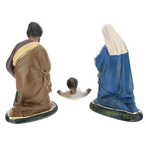 Nativité Arte Barsanti 3 santons plâtre peint à la main 20 cm 5