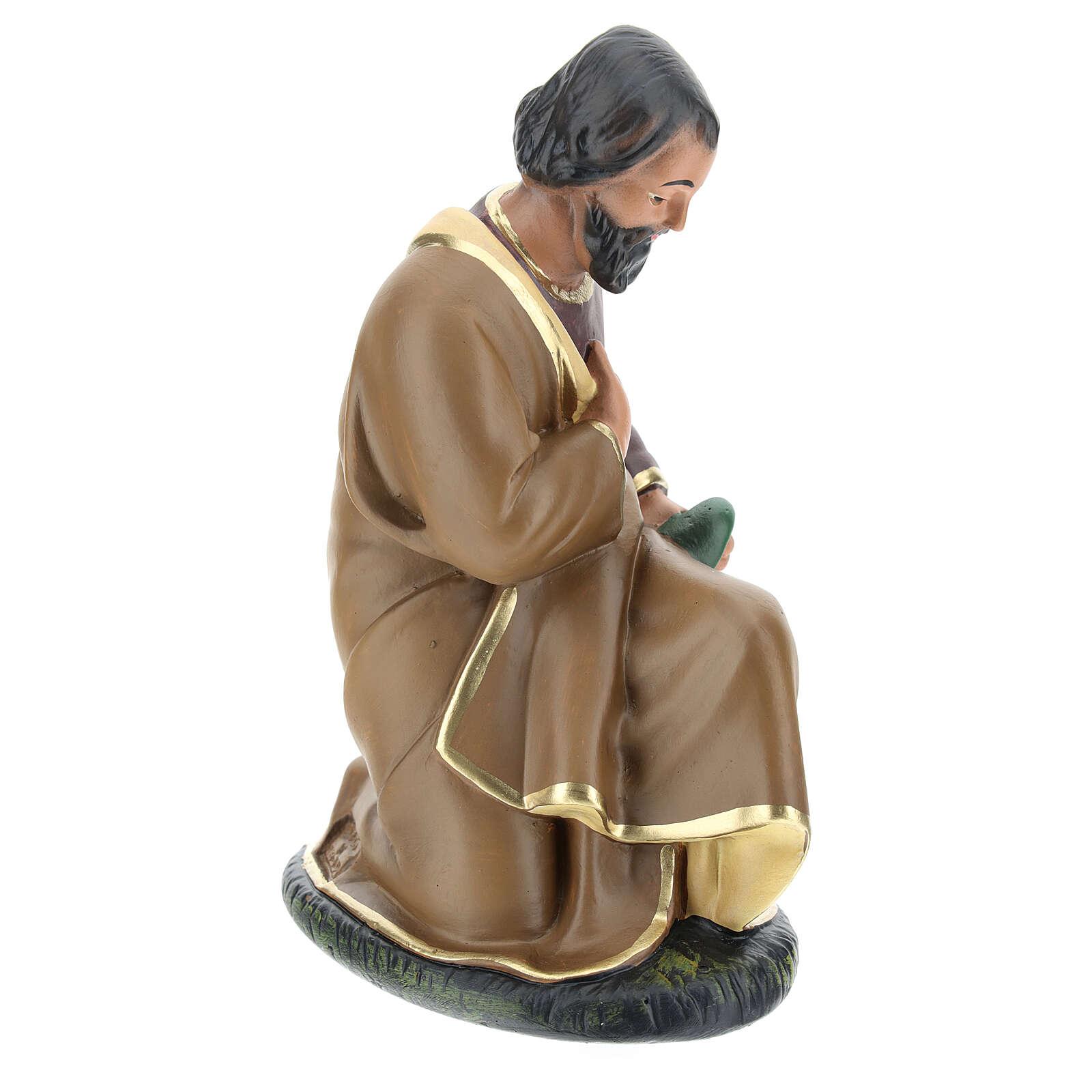 Holy Family statue, for 20 cm Arte Barsanti nativity in painted plaster 4
