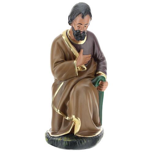 Figur Heiliger Josef aus Gips für Krippen handbemalt von Arte Barsanti, 20 cm 1