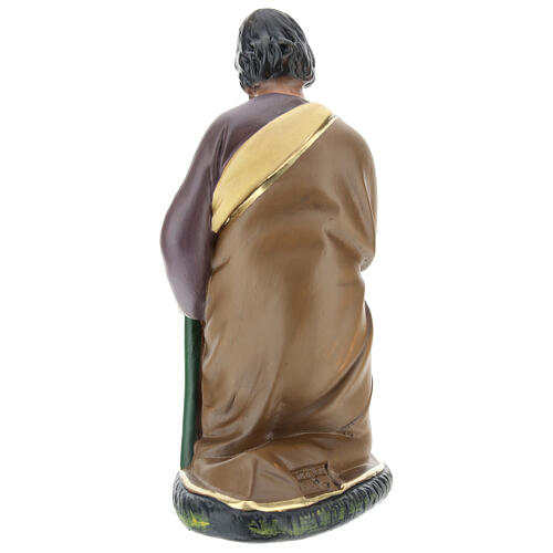 Figur Heiliger Josef aus Gips für Krippen handbemalt von Arte Barsanti, 20 cm 5