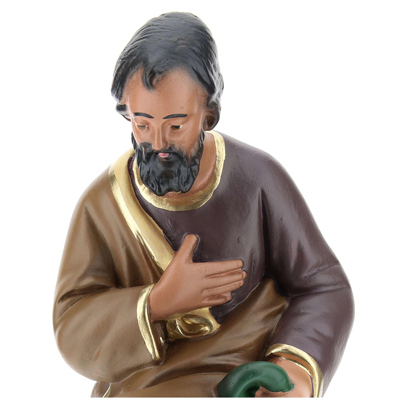 San José yeso pintado a mano 20 cm Arte Barsanti 4
