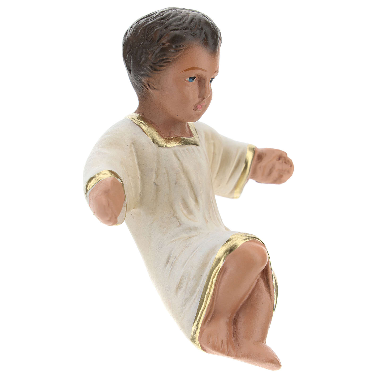 Statua Gesù Bambino per presepi Arte Barsanti di 20 cm gesso colorato 4
