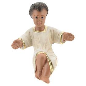 Statua Gesù Bambino per presepi Arte Barsanti di 20 cm gesso colorato s1