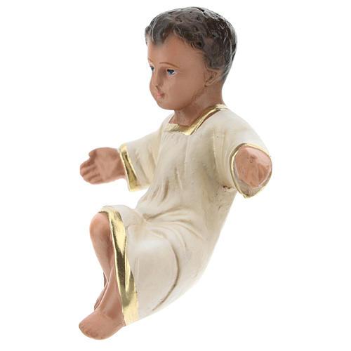 Statua Gesù Bambino per presepi Arte Barsanti di 20 cm gesso colorato 2