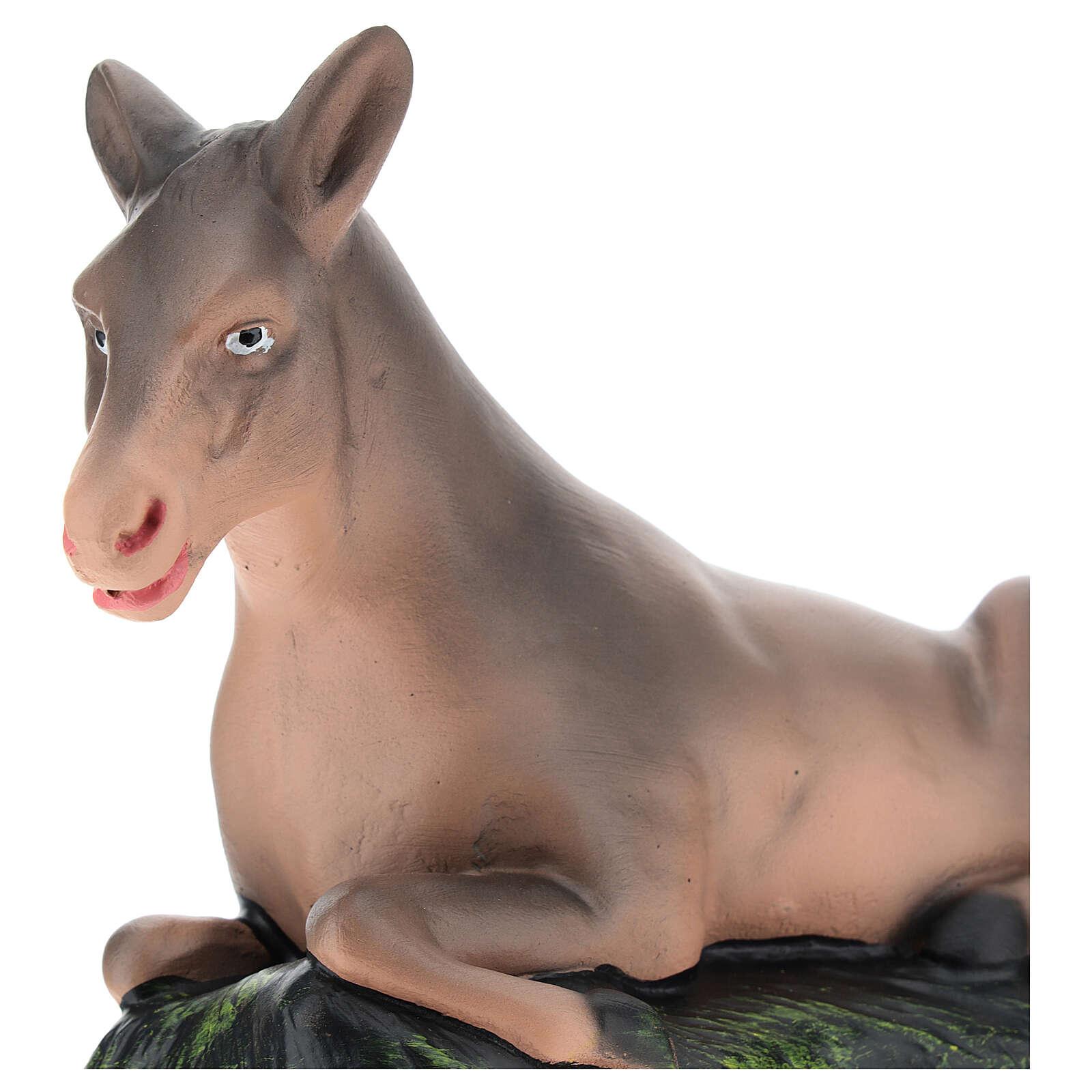 Donkey for Arte Barsanti Nativity Scene 20 cm 4