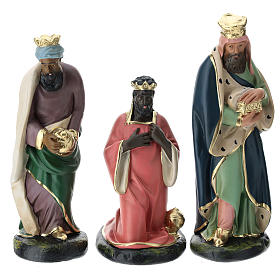 Set Reyes Magos yeso para belén Arte Barsanti 20 cm s1