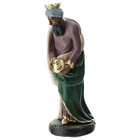 Set Reyes Magos yeso para belén Arte Barsanti 20 cm s2