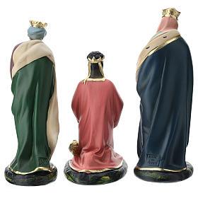 Set Reyes Magos yeso para belén Arte Barsanti 20 cm s5