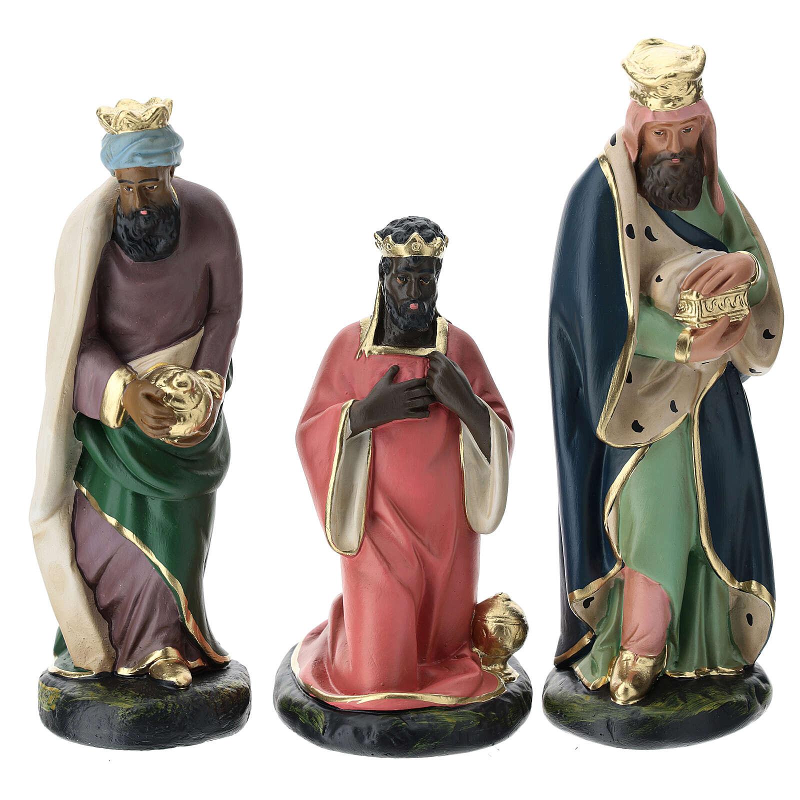 Three Magi set in plaster, for 20 cm Arte Barsanti nativity 4