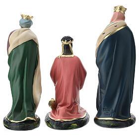 Three Magi set in plaster, for 20 cm Arte Barsanti nativity s5