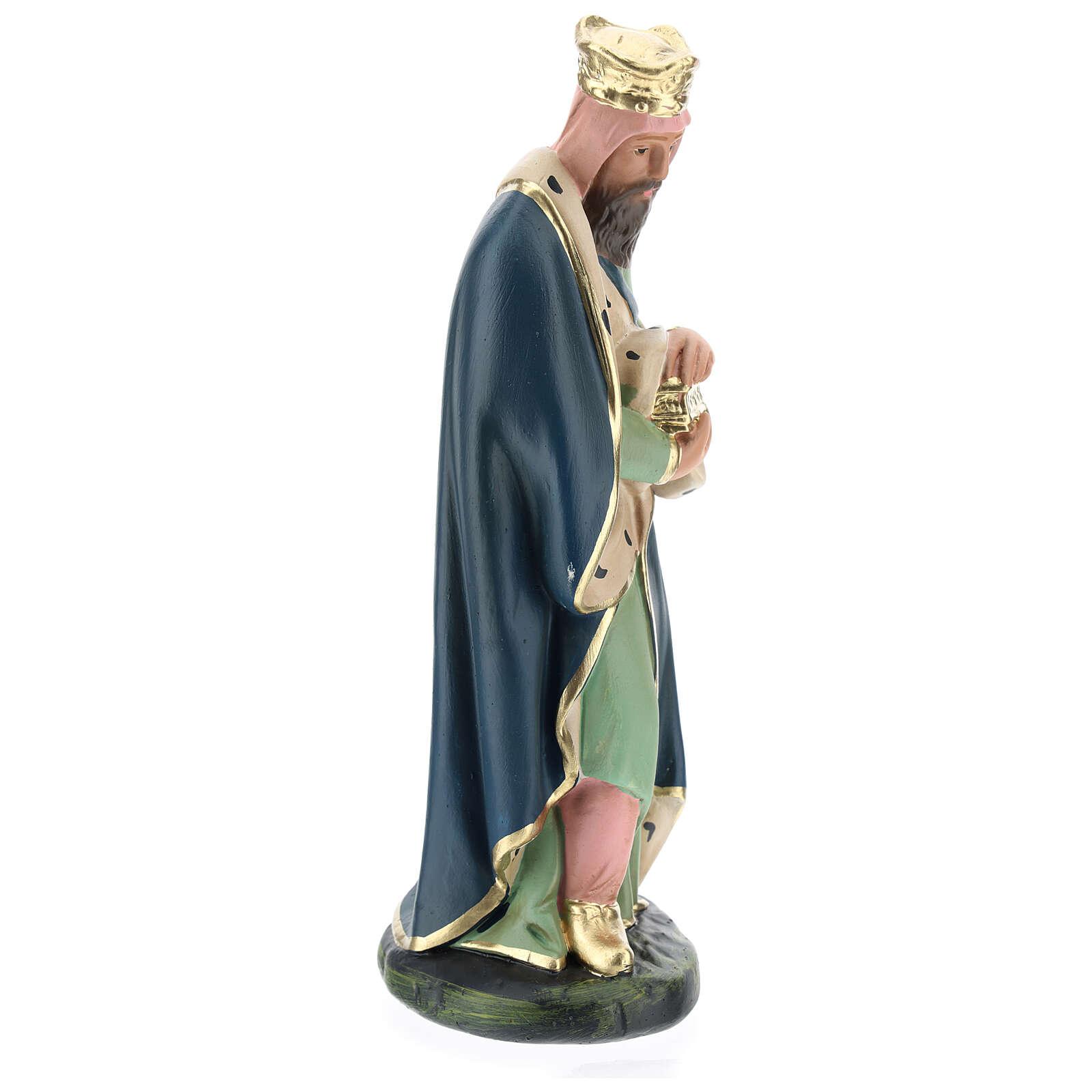 White Wise Man Melchior for Arte Barsanti Nativity Scene 20 cm 4