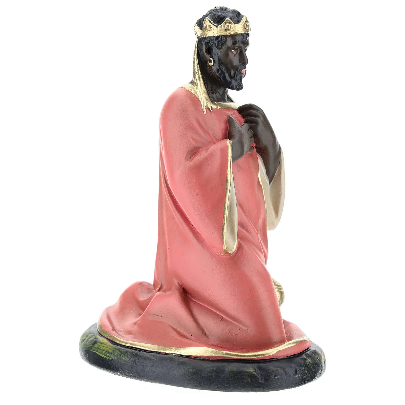 Rey Mago negro Baltasar yeso 20 cm Arte Barsanti 4
