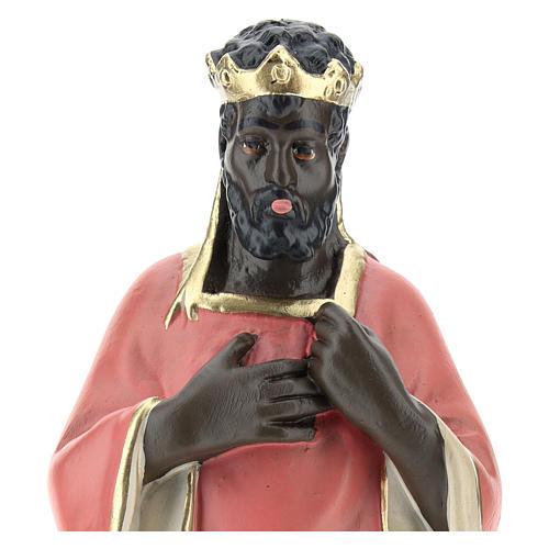 Rey Mago negro Baltasar yeso 20 cm Arte Barsanti 2