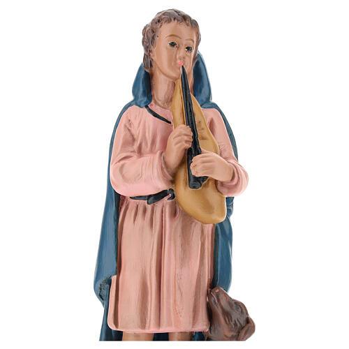 Shepherd with flute and dog for Arte Barsanti Nativity Scene 20 cm 2