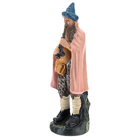 Estatua gaitero yeso pintado a mano para belenes de 20 cm Barsanti s3