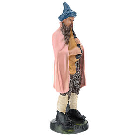 Estatua gaitero yeso pintado a mano para belenes de 20 cm Barsanti s4