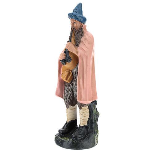 Estatua gaitero yeso pintado a mano para belenes de 20 cm Barsanti 3