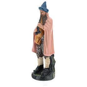 Statua zampognaro gesso dipinto a mano per presepi di 20 cm Barsanti s3