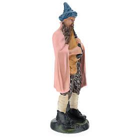 Statua zampognaro gesso dipinto a mano per presepi di 20 cm Barsanti s4
