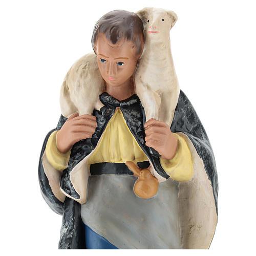 Pastore con pecorella in spalla gesso per presepi 20 cm Arte Barsanti 2