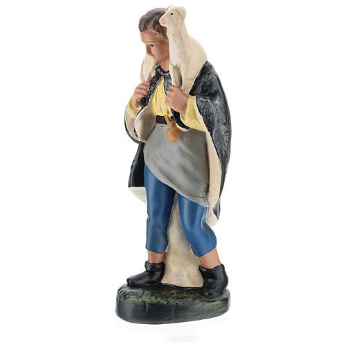 Pastore con pecorella in spalla gesso per presepi 20 cm Arte Barsanti 3