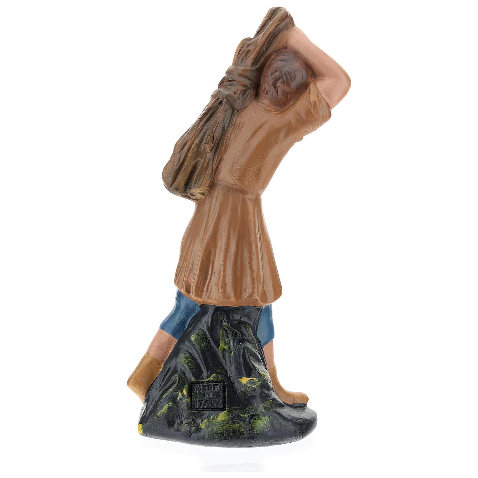 Farmer with timber for Arte Barsanti Nativity Scene 20 cm 4