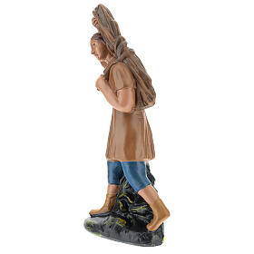 Estatua campesino con leña yeso 20 cm Arte Barsanti s3