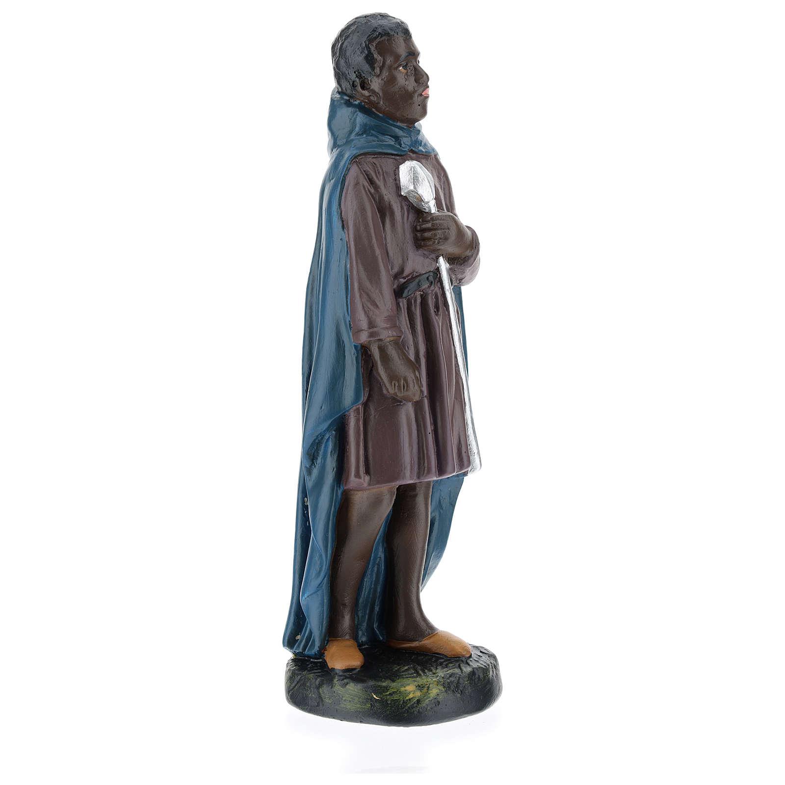 Statua cammelliere moro gesso 20 cm Arte Barsanti 4