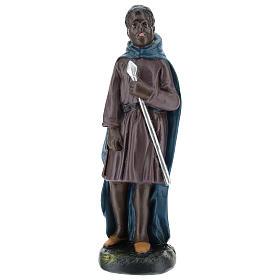 Statua cammelliere moro gesso 20 cm Arte Barsanti s1