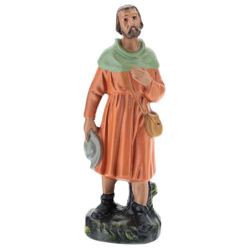 Estatua pastor viandante yeso 20 cm Arte Barsanti 1