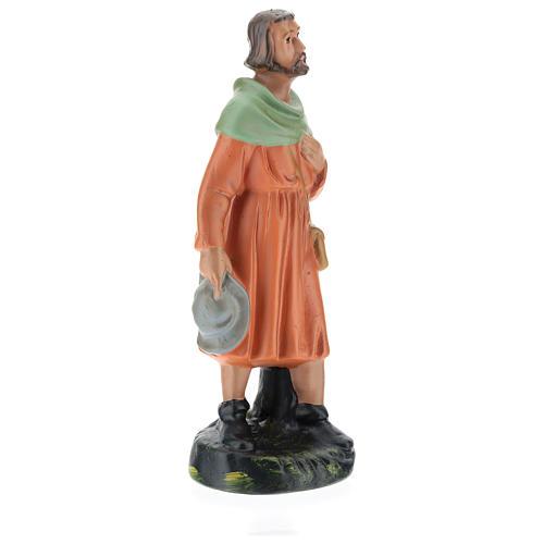 Estatua pastor viandante yeso 20 cm Arte Barsanti 4