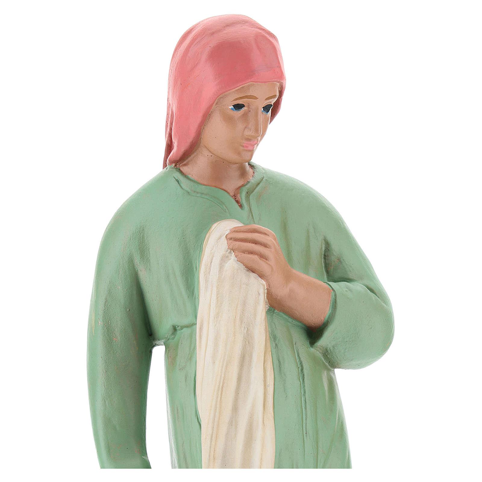 Lavandera con ropa yeso para belenes 20 cm Arte Barsanti 4