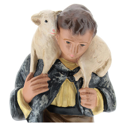 Kneeling shepherd with sheep for Arte Barsanti Nativity Scene 20 cm 2