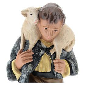 Estatua pastor de rodillas con oveja belén 20 cm Arte Barsanti s2