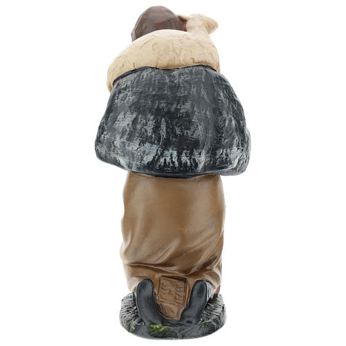 Estatua pastor de rodillas con oveja belén 20 cm Arte Barsanti 5